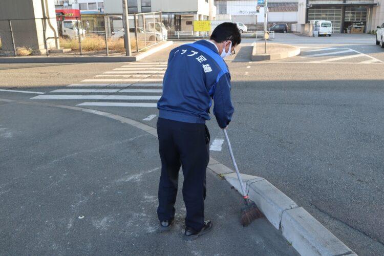 清掃活動で地域貢献!